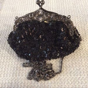Handbags - Black sequins evening purse